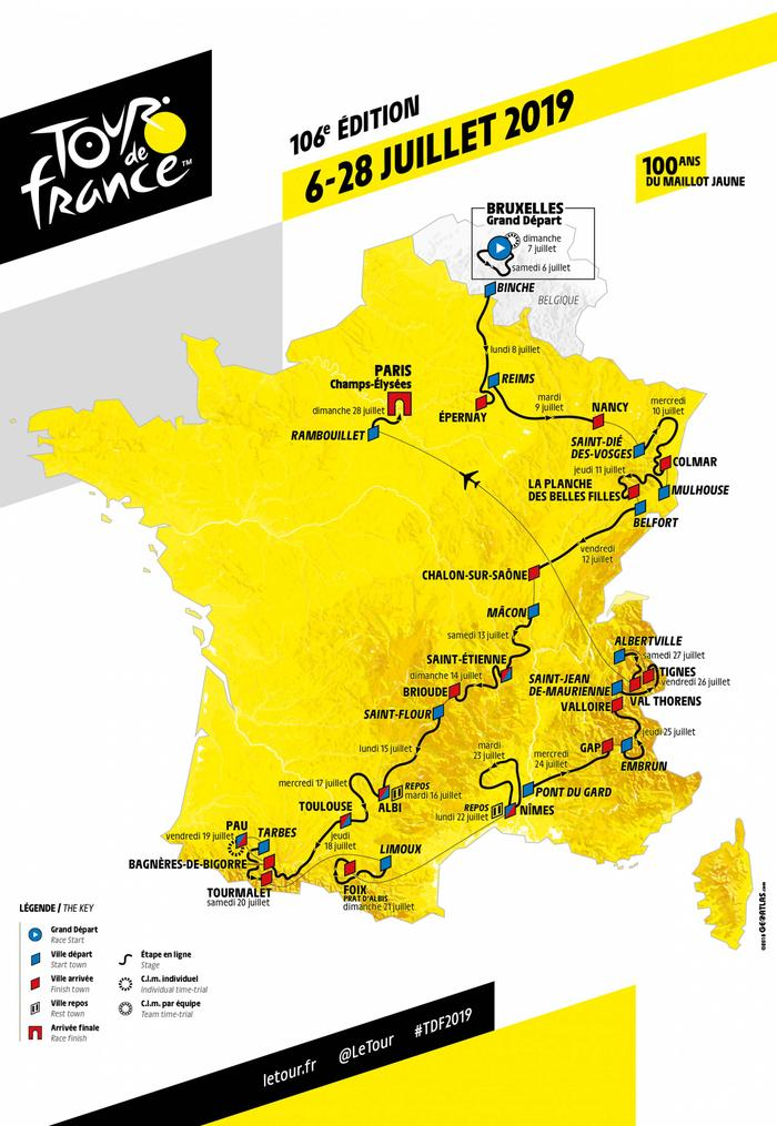 Le Creusot - Carte Tour de France 2019